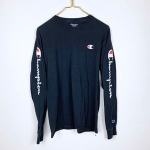 Champion Spell Out Long Sleeve Tee Shirt